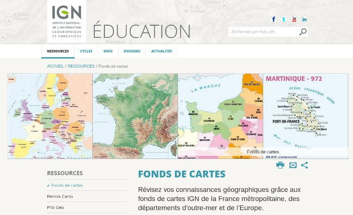 Cartes IGN éducation