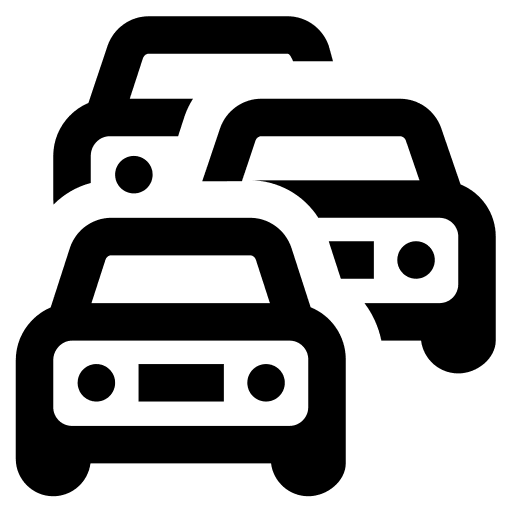 Axes routiers, voitures et trafic